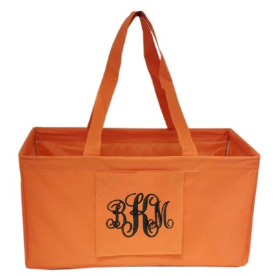 6040 - ORANGE SHOPPING BASKET OR UTILITY BASKET