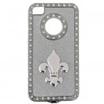 IPHONE 4/4S COVER SILVER W/FDL