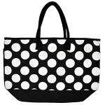 4BLWT-BLACK JUTE BAG W/WHITE DOTS