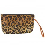 SMALL LEOPARD POUCH BAG / GOLD