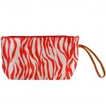 180462-SMALL PINK ZEBRA POUCH BAG
