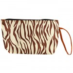 180463-SMALL BROWN ZEBRA POUCH BAG