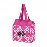 32534 -HOT PINK QUATREFOIL DESIGN INSULATED LUNCH BAG