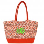 6001- CORAL MULTI DESIGNER SHOPPING OR BEACH BAG