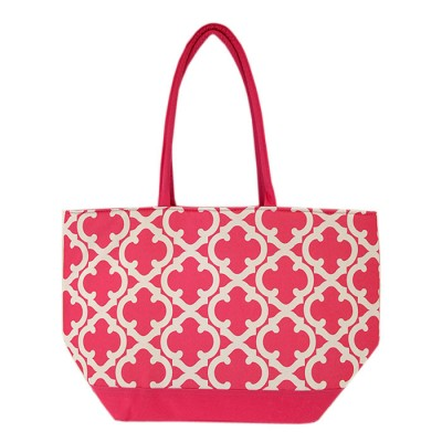 6043-HOTPINK QUATREFOIL  DESIGN INSULATED ICE BAG
