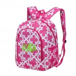 6052 - HOTPINK QUATREFOIL DESIGN BACKPACK