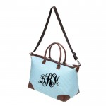 6058 - AQUA SEER SUCKER DUFFLE BAG