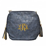 9056- NAVY BLUE PU LEATHER SHOULDER CROSSBODY BAG