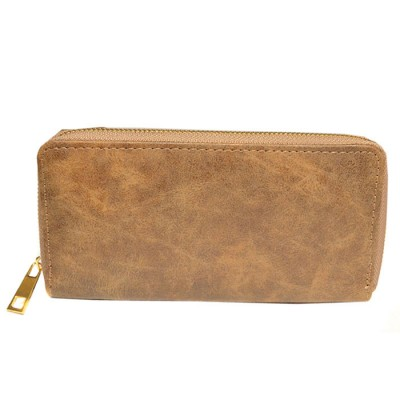 9071 - BROWN PU LEATHER FASHION WALLET