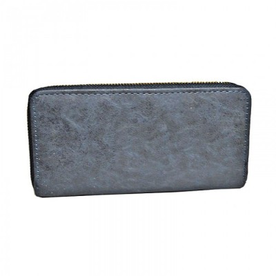 9071 - NAVY PU LEATHER FASHION WALLET