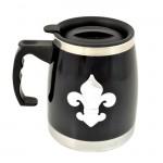 901235-FDL BLACK STAINLESS STEEL COFFEE MUG