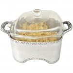 3513 - HAMMERED SQUARE CASSEROLE HOLDER W/GLASS