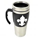 901226-BLACK/STAINLESS STEEL COFFEE MUG STAINLESS STEEL W/FDL