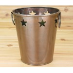 1010A Tub Round Small Copper Tone w/ Stars