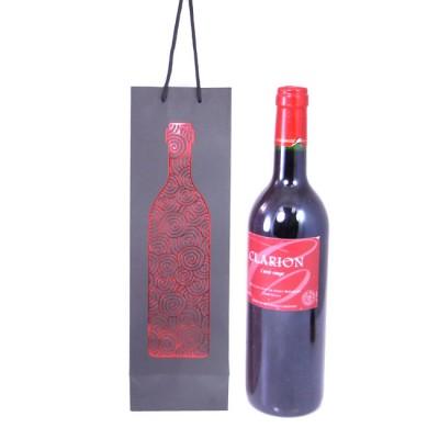 1290RED-WINE BOTTLE HOLDER BLACK COLOR / W  RED BOTTLE