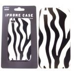 SI124005-IPHONE 4S COVER ZEBRA W/BLACK/WHITE