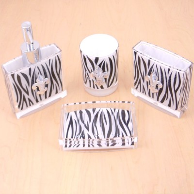 125005-FDL ZEBRA BATHROOM SET/4PC./ W FDL