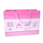 YA-702-BABY GIRL PINK GIFT BAG MEDIUM
