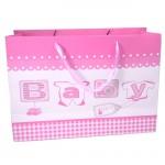 YA-702-BABY GIRL PINK GIFT BAG LARGE