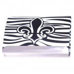 FDL BUSINESS CARD HOLDER / W ZEBRA ( BLACK / WHITE ) DESIGN