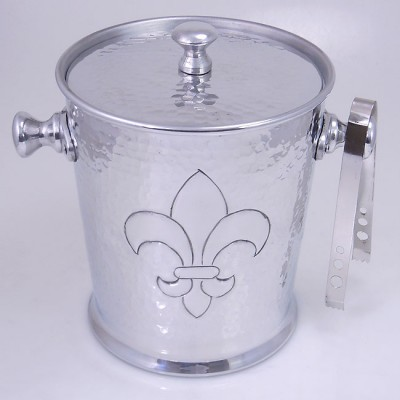 3493-HAMMERED/FDL ICE BUCKET W/TONG