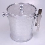 3494-HAMMERED ICE BUCKET W/TONG