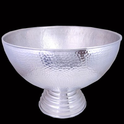 """80035-X-LARGE HAMMERED PUNCH BOWL 20"""" ROUND"""