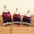 60004FUCHSIAPURP- FUCHSIA PURPLE CANISTER SET WITH LIDS (BASE SOLD SEPARATE)