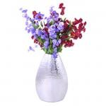 "FLOWER VASE 10.5"" W/HAMMERED DESIGN"