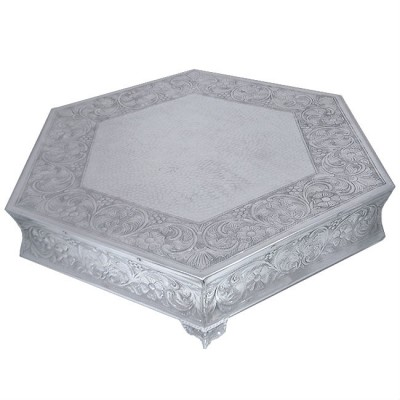 "80060A-LARGE HEXAGON SHAPE CAKE PLATEAU- 22""X22"""