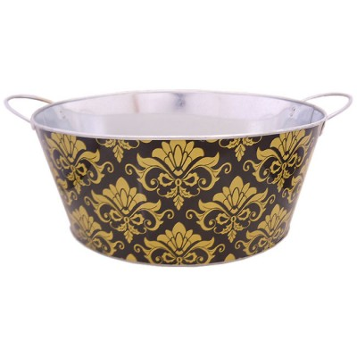 3000BG-Gold Dmask Bucket / W Black Base