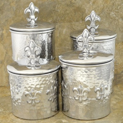 3568 - ROUND FDL HAMMERED BOX SET/4