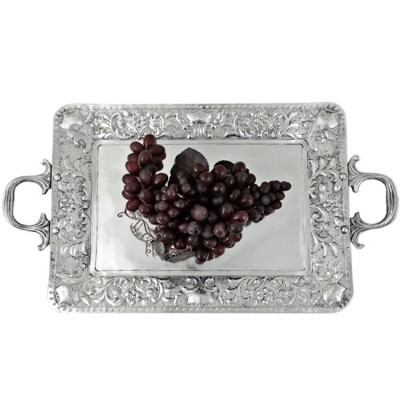 3572 - RECT. TRAY W/HANDLE