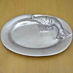 52447 - OVAL CRAWFISH DESIGN TRAY