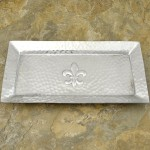 52501 - RECT.HAMMERED/FDL TRAY SMALL
