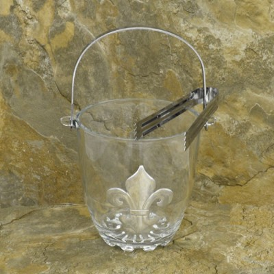 SW181146 - FDL GLASS ICE BUCKET W/TONG