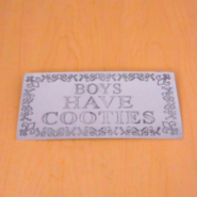 23779 - WALL PLAQUE - BOYS HAVE COOTIES