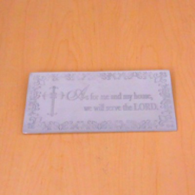 23780 - WALL PLAQUE - AS FOR ME AND MY HOUSE