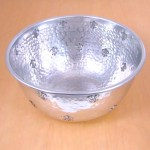 "3461A - ROUND HAMMERED BOWL 10"" W/FDL"