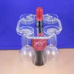 52050 WINE GLASS HOLDER W/ BEADED DESIGN