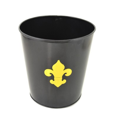 1192-FDL - BLACK COLOR BUCKET W/GOLD FDL