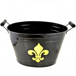 1200BL-GD - BLACK BUCKET W/GOLD FDL