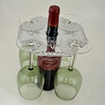 3507 - WINE GLASS HOLDER W/FLEUR DE LIS