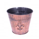 1075C - SMALL FLOWER VASE COPPER / W FDL