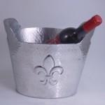 3488-HAMMERED FDL WINE COOLER
