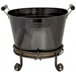 1230-SHORT BUCKET STAND STAR DESIGN W/ TRAY - BUCKET SEPARATE