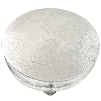 80066A - LARGE ROUND HAMMERED CAKE PLATEAU 22''