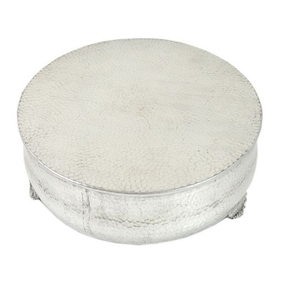 80097 - MEDIUM ROUND HAMMERED CAKE PLATEAU 16''