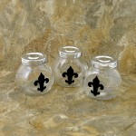 MJ8294BK-FDL-SPICE JAR OR CANDY JAR W/BLACK FDL SET/3