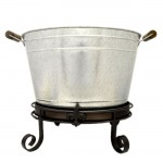 1215-BUCKET STAND FDL W/ DRIP TRAY - BUCKET SEPARATE